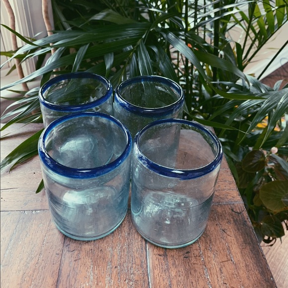 Vintage Set of 4 Glass Tumblers